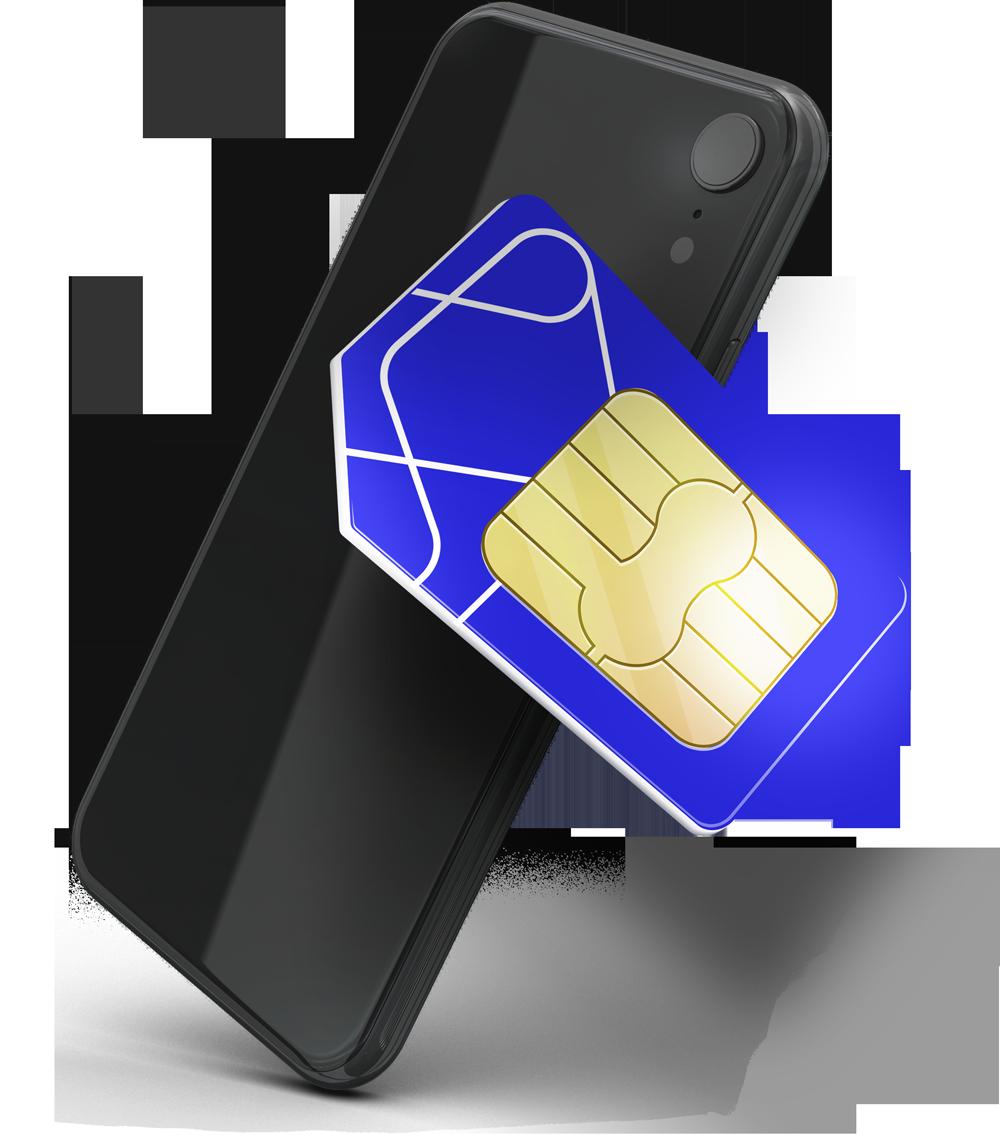 Imagem Celular e chip surf